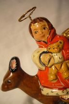 Vaillancourt Folk Art, 35th Ann Angel and Deer Limited signed by Judi image 5