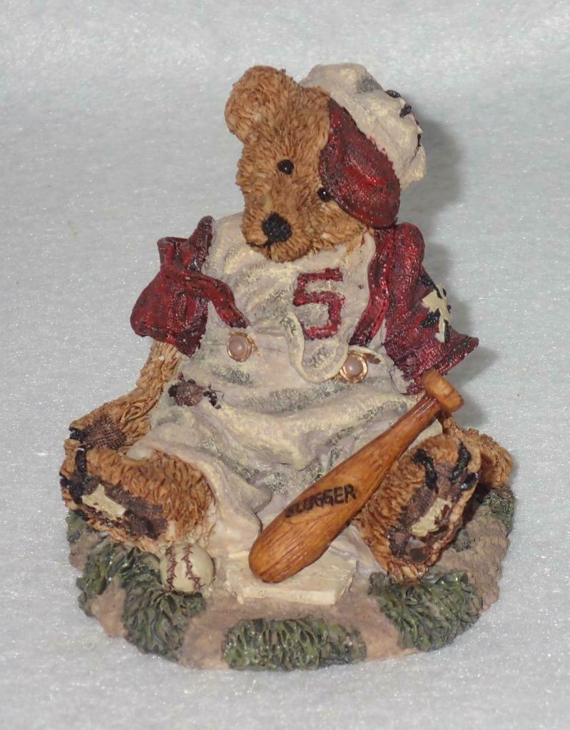 Boyd Bearstone Resin Bears Homer On The Plate RED Figurine #2225 31E NEW IN BOX