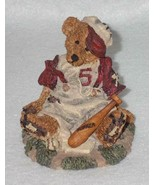 Boyd Bearstone Resin Bears Homer On The Plate RED Figurine #2225 31E NEW... - $9.46