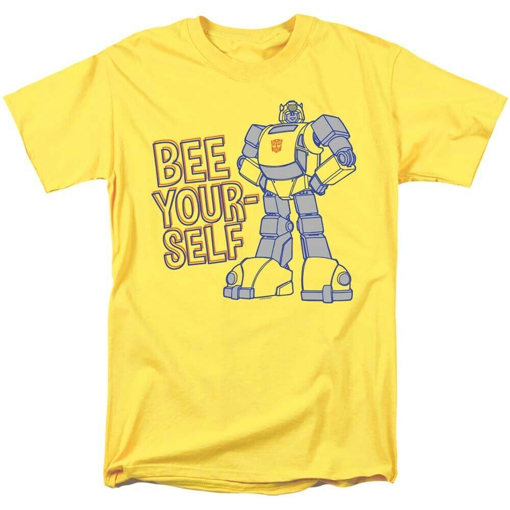 Transformers bumble bee t shirt retro 80s toys saturday cartoon yellow tee morning