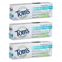 Tom's of Maine, Natural Rapid Relief Sensitive Toothpaste, Natural Tooth... - $17.20