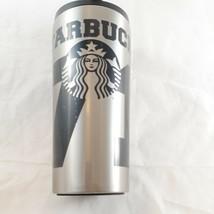 Starbucks Stainless Steel 71 Mermaid Logo Mug Tumbler Flip Top 2014 16 oz - $21.77