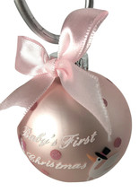 First Christmas Ornament by Kurt Adler  Little Girl- Pink-Cute!-Holiday! - $8.54