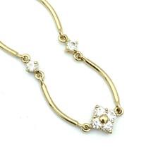 MONET rhinestone flower choker necklace - delicate gold-tone clear flora... - $18.00