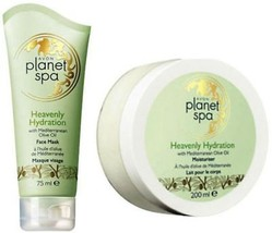 Avon Heavenly Hydration Olive Oil Set Body Cream + Face mask New - $13.99