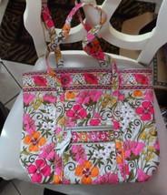 Vera Bradley Villager large zipper tote in Tea Garden  - $48.00