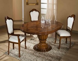 VIG Modrest Elizabeth Round Extendable Dining Table Made in Italy