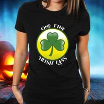 Sexy Irish Lady T-shirt, Gift For Her, One Fine Irish Lass, Black Unisex Tee  - $19.75