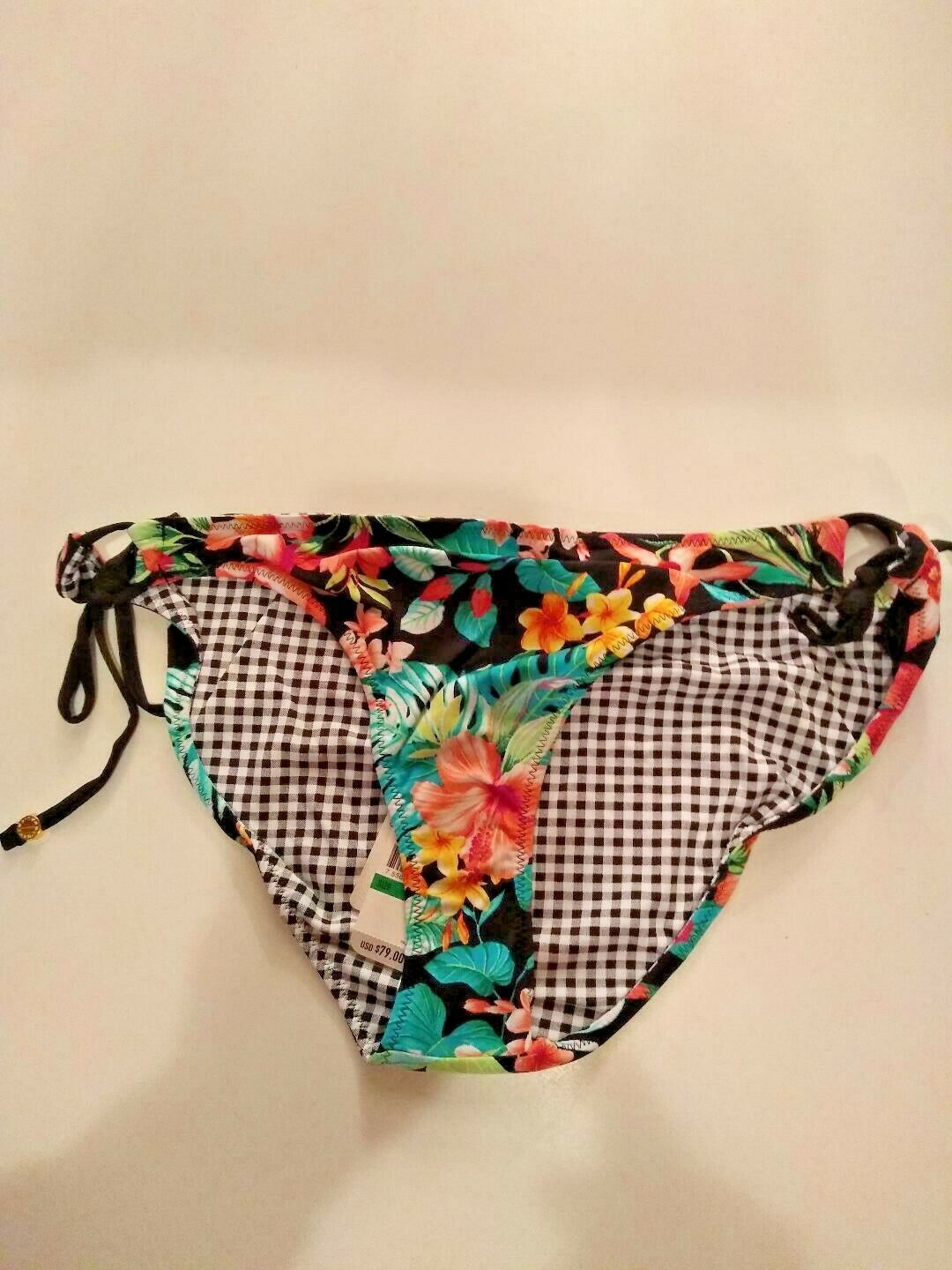 Tommy Bahama Floral Reversible String Swimwear Bottoms Size Large