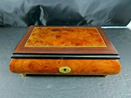 THE SAN FRANCISCO MUSIC BOX CO.,SORRENTO ITALY, Burl Inlay JEWELRY BOX,W... - $90.00