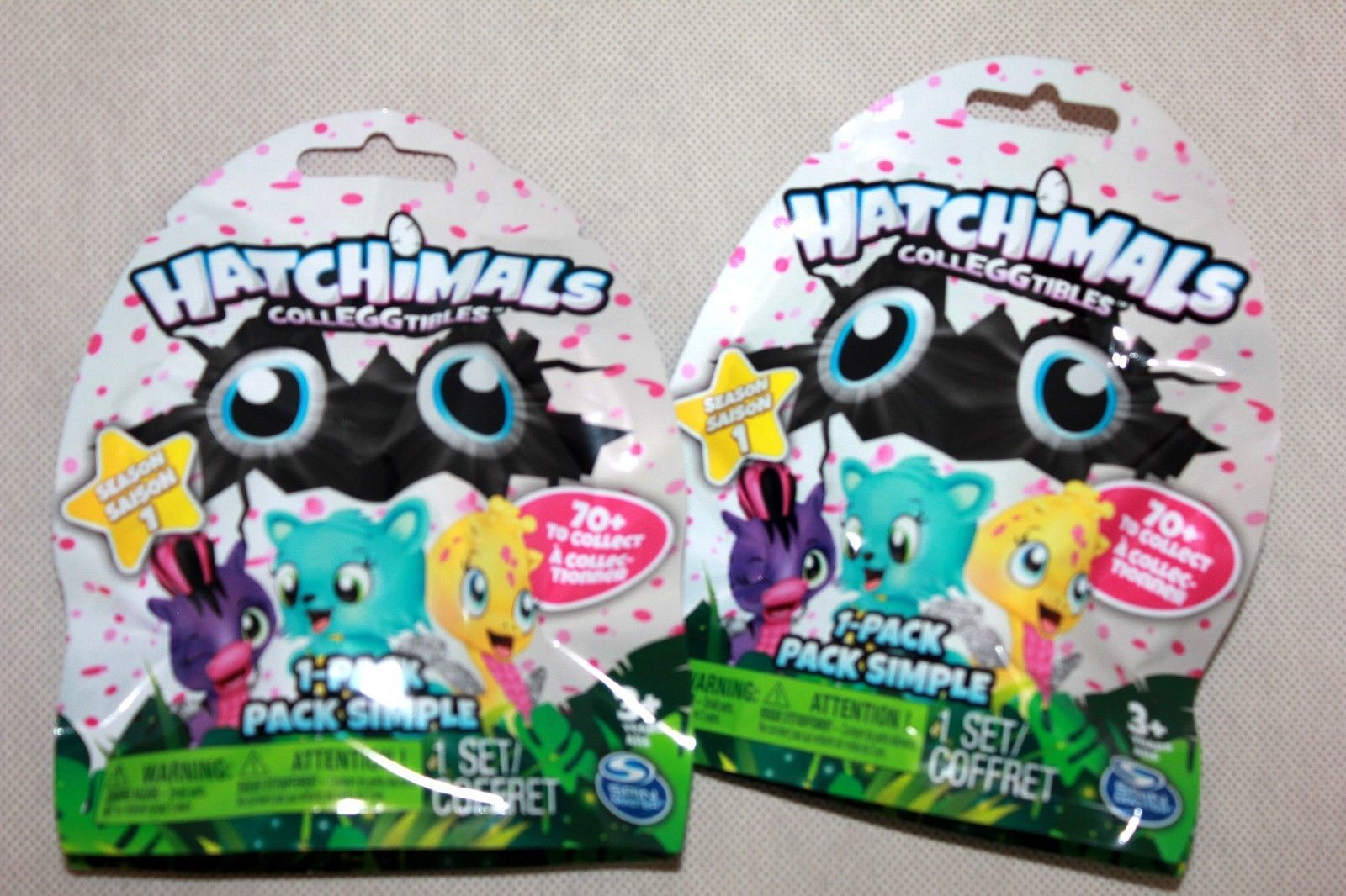 Hatchimals CollEGGtibles Mystery Figure 2-Pack Bundle NEW