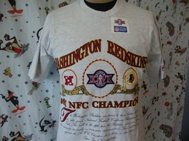 Super Bowl XXVI T Shirt Sz L Vintage Washington Redskins New 1991 deadst... - $24.74