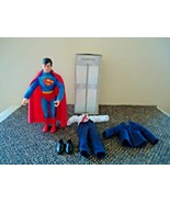 Vintage Hasbro D C Comics Superman Action Figure With Telephone Booth & ... - $49.99