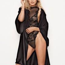 Victoria's Secret ✨NEW✨Crochet Lace-trim Satin Robe Dream Angels M/L    - $53.80
