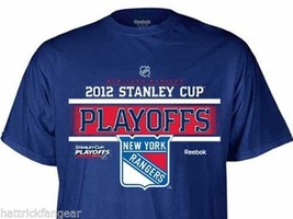 NEW YORK RANGERS- REEBOK 2012 NHL HOCKEY STANLEY CUP PLAYOFF ROOSTER T-S... - $18.04