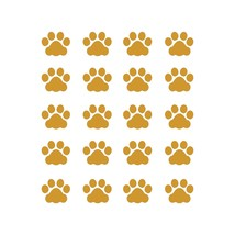 LiteMark 1 Inch Imitation Gold Cat Paw Prints - Pack of 60 - $19.95