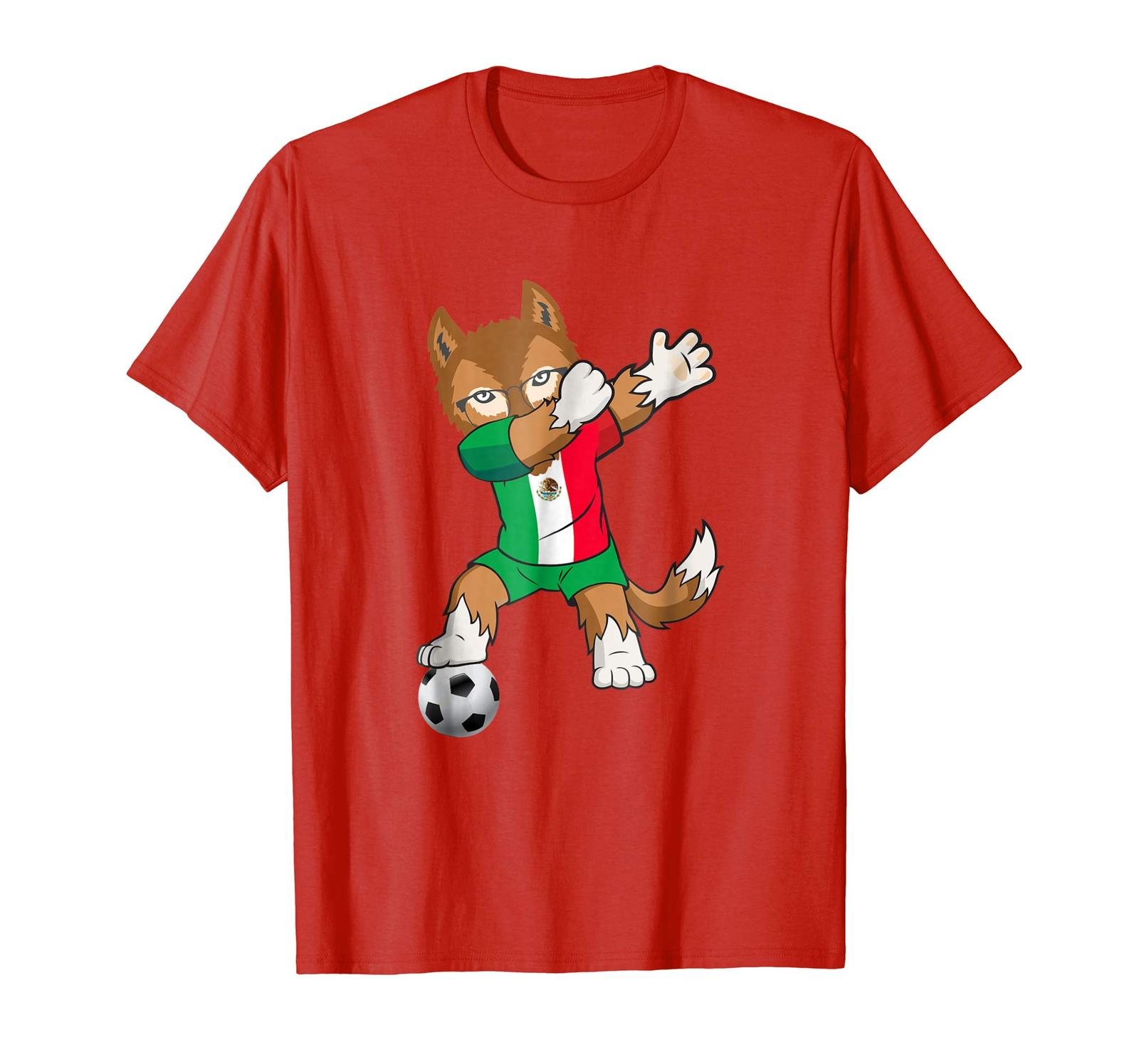 Primary image for Dad Shirts - Mexico Soccer Jersey 2018 World Football Cup T-Shirt Flag Men