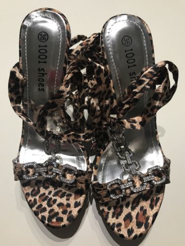 Brand New Leopard Print High Heels Ladies Party Shoes