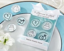"Kate Aspen ""To Have and to Hold"" Glass Wedding Magnets - $6.79"