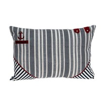 "20"" x 0.5"" x 14"" Nautical Blue Pillow Cover - $50.27"