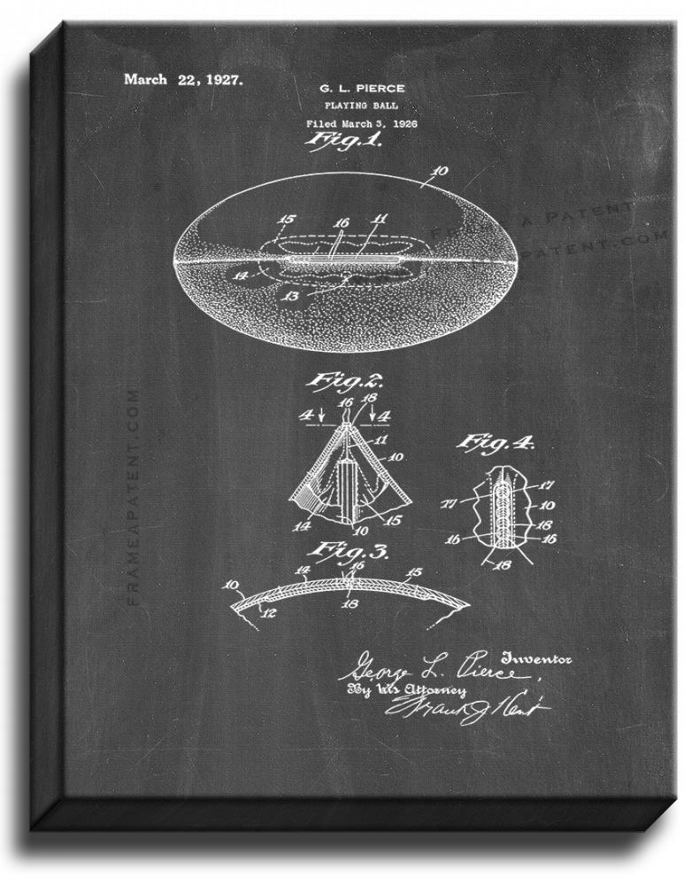 Primary image for Football Patent Print Chalkboard on Canvas