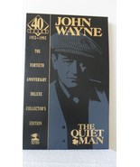 THE QUIET MAN 40TH year DELUXE COLLECTORS EDITION JOHN WAYNE book and vh... - $21.97