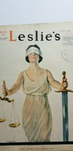 1919 Magazine Cover Art LADY JUSTICE BLINDFOLDED Leslie's Weekly H COFFI... - $11.25