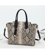 New Python Snake Pattern Italian Leather Winged Satchel Handbag Purse 2651S - $147.99