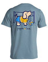 Puppie Love Rescue Dog Adult Unisex Short Sleeve Cotton Tee,Volleyball Pup