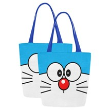 Set of TWO Doraemon Canvas Tote Bag Two Sides Printing - $29.99