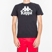 T-SHIRT MAN KAPPA AUTHENTIC ESTESSI SLIM 303LRZ0.005 CHEST LOGO TRIBES Nero - $31.59