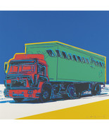 "Andy Warhol Oil Painting on Canvas Pop art wall decor Green Truck 28x28"" - $15.83+"