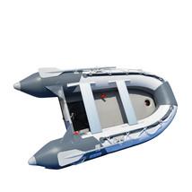 BRIS 9.8 ft Inflatable Boat Dinghy Yacht Tender Fishing Raft Pontoon W/Air Floor image 4