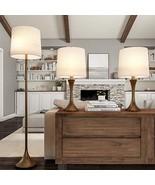 Lavish Home Table and Floor Lamps – Set of 3 Mid-Century Modern Metal Fl... - $133.99