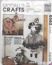 McCall's Crafts Pattern #6562-Cows & Chickens Draftbusters-  Christmas/Winter - $5.86