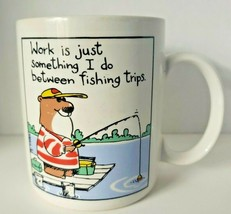 Hallmark Shoebox Greetings Coffee Mug - Fishing Bear- 1987 - $18.99