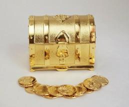 """Gold Treasure Box Wedding Arras de boda Set with 13 Coins 2.75"""" X 2"""" X 2"""" - $27.18"""