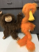 RARE GAF Full hand Marionette Orange Plush Puppet furry Monster Bird and... - $69.25