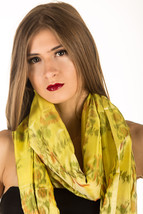 Exclusive Ikat Pure Silk Hand Woven Scarf with Vibrant Geometric Pattern... - $59.99