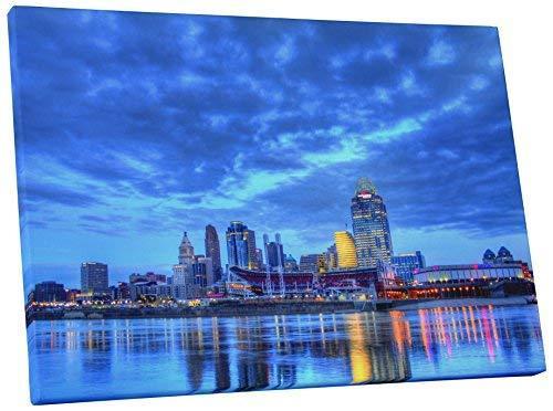 "Pingo World 0706QZDP56S ""Cincinnati Downtown Night Skyline"" Gallery Wrapped Canv - $47.47"