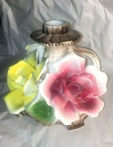 Capodimonte 4 Footed Floral Candlestick Holder w Handle - $59.39