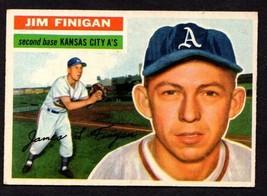 1956 TOPPS #22 JIM FINIGAN BASEBALL CARD (GB) KANSAS CITY A's - $8.86