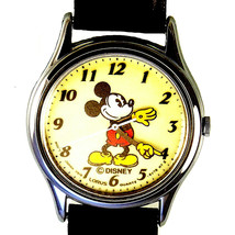 Mickey Mouse Glow In the Dark Lumibrite Dial, Hands Point Time, Quarts W... - $78.06