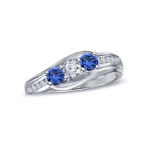 14k White Gold Plated 925 Pure Sterling Silver Women's Three Stone Wedding Ring - $74.40