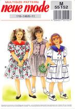 Neue Mode 55152 Vintage Pattern Girl Summer Dresses Spring Dress Girls S... - $12.00
