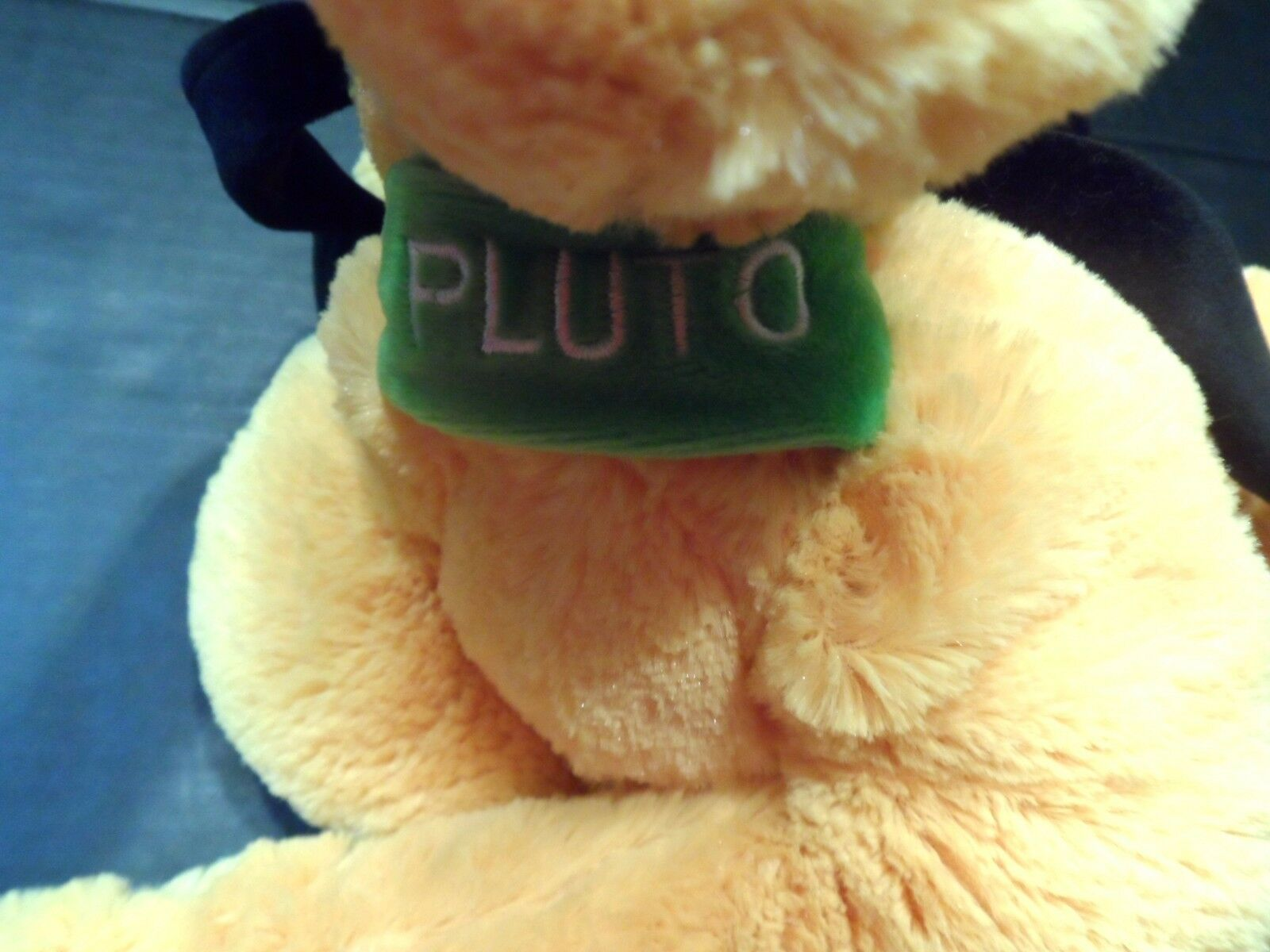 "Disney Plush Pluto 17"" Stuffed Animal Dog Disneyland Cartoon Plushie Stuffie"