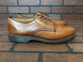 Dr Martens Octavius Derby Shoes Copper Brown Leather Size 11 - $47.18