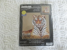 "Janlynn RESTING TIGER Counted Cross Stitch SEALED Kit #106-29 - 14.5"" x 14.5"" - $9.90"