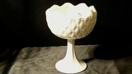 White Ruffle Heavy Etched Chalice Cut Glass (Large ) AA20-CD0065 Vintage image 5