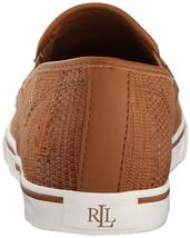Ralph Lauren Women's Premium Janis Slip-On Athletic Fashion Sneakers Shoes Tan image 7